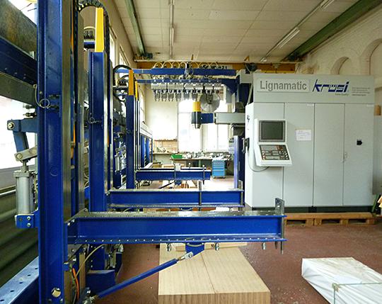 Die Lignamatic von Krüsi (Lagermaschine)