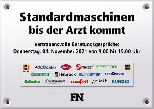 Tischlertag bei FN  in Kiel am 04.11.2021 von 9.00 bis 19.00 Uhr